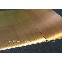 China Yellow Ti 304 Stainless Steel Surface Finish Corrosion Resistance For Decoration wholesale