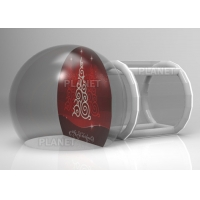 China Custom Backdrop Inflatable Christmas Photo Snow Globes With Tunnel wholesale