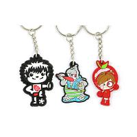 China Recycled Soft PVC Custom Keyrings Micro - Injection Procedure For Both Sides wholesale