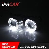 China IPHCAR 2.5 inch Hid Mini Projector Lens With Square Angel Eye H1 H7 H4 Hid bi Xenon Projector Light wholesale