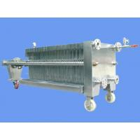 China SUS 304 Plate Frame Filter Press on sale