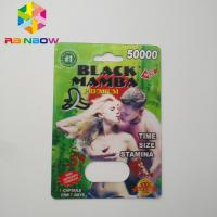 China Normal Size Blister Card Packaging , Paper Card Packaging Rhino Type With 2 Holes wholesale