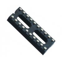 China Black color  IC Socket 2*10P 180° H=3.0 Round female Header 7.62 with center bar ROHS wholesale