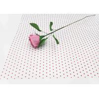 China 17gsm Waxed Wrapping Dotted Tissue Paper Foil Tissue Paper Sheets Metallic Red Dot Pattern wholesale
