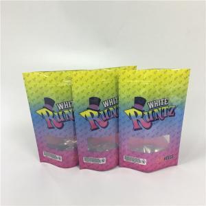 China CYMK Color Custom Printed Ziplock Bags Weed Runtz Punch For Runtz Mylar Packages wholesale