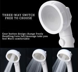China JK-2801 white color massage handheld showerheads high water pressure saving water three settings shower wholesale