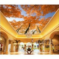 China Maple Leaves Bamboo Fiber Integrated Ceiling System For Hotel Room Decoration wholesale