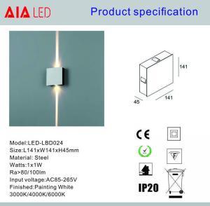 Quality Steel inside 2x1W  IP20 modern LED wall light /LED decoration light for showroom for sale