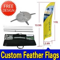 China Custom Flying Banner Feather Flags Banner With Dye Sub Printing wholesale