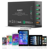 China NEW Quick Charge 3.0 AUKEY 5 Port USB Charger for Samsung Galaxy S7/S6/Edge, LG G5, iPhone, Nexus 6P & More wholesale