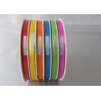 China Beautiful 4 / 6 channel wrapping ribbon 5mm , 10mm width for mixed color products packing wholesale