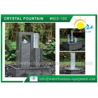 China Decoration Feng Shui Garden Fountain Granite Sculpture With Glass Column wholesale