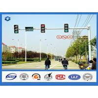 China 8 Sides 1 Arm Hot dip Galvanized street sign pole , AWS D 1.1 Welding Standard traffic sign posts on sale