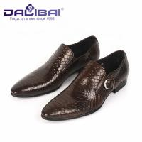 China Genuine Leather Dress Shoes Mens Dress Shoes Buckle Strap Walking Dress Shoes wholesale