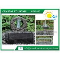 China Decorative Feng Shui Cast Stone Garden Fountains With Crystal Glass Column wholesale