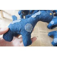 "China 6"" Pony children Stuffed homemade unique denim toys gifts for home decoration wholesale"