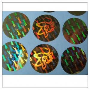 China Golden color hologram 3d hologram security sticker label ,Rainbow Hologram Sticker Holographic Self Adhesive Label on sale