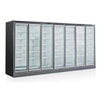 China Supermarket Glass Door Freezer with Outside Compressor Commercial Upright Deep Freezer wholesale
