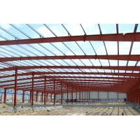 China Fabrication Safety Industrial Steel Structures , Single Span Fabricated Steel Buildings wholesale