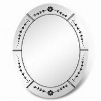 China Decorative Wall Hanging Mirror in Venetian Style, with Silkscreen Printing wholesale