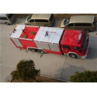 Quality Heavy Duty Foam Fire Truck Maximum Allowable Load 34000KG With Electric Steering Box for sale