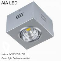 China IP42 Silver indoor surface COB 5W Ceiling down light&LED Grille light wholesale