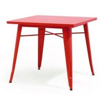 China Popular Replica Xavier Pauchard Square Tolix  Outdoor Table Available In Different Colors TW8008-M wholesale
