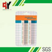 China 100 Tie Points Solderless Breadboard Kit 2 Half Size Strips With Color Printed wholesale