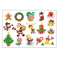China Christmas Kids Temporary Tattoo Festival Cartoon Sticker Color Printing wholesale