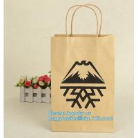 China Cheap small paper gift bags Promotional Luxury OEM Design Gold Foil Logo Wedding Custom Paper Gift Bag with Ribbon PACK wholesale