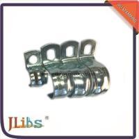 China Zinc Galvanized Hydraulic Tube Saddle Clamps / Saddle Pipe Clips Vertical Without Rubber wholesale