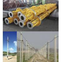 China Yellow Electric Prestressed Concrete Poles , Precast Concrete Pole ISO wholesale