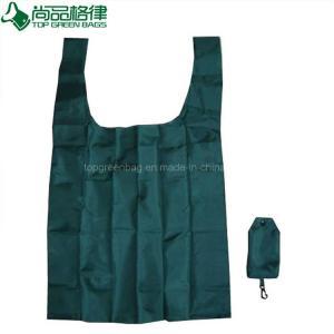 China Nylon Foldable Reusable Shopping Bag Small Pouch Shopping Polyester Foldable Shopping Promotional Bag on sale
