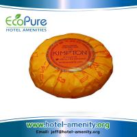 China Round pleat wrapped hotel soap , guest soap ,hotem amenities soap wholesale
