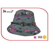 China Multi Color Wide Brim Sun Hat , Superposed Style Ladies Straw Hats wholesale