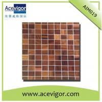 China Square wood mosaic tiles for bathroom or living room wall decoration wholesale