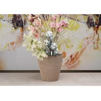 China SPW Material Decorative Round Garden Pots Lifetime Warranty For Green Plant wholesale