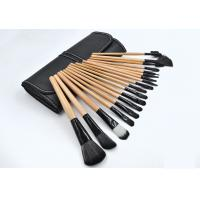 China Customied Face Makeup Brush Kit Pink / Black Handle Color SGS Certification wholesale