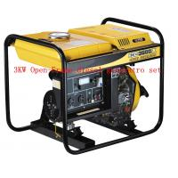 China 220 / 230V Air Cooled Open Frame Diesel Generators Low Oil Alarm System wholesale