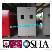 China Full Steel Flammable Gas Cylinder Drum Storage Cabinets , Lab Drum Gas Cyliner Storage Cabinets wholesale