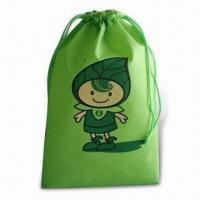 China Drawstring Backpack, Made of Nonwoven Material, Customized Logo is Welcome wholesale