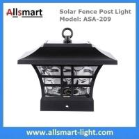 China 4''x4'' inch Square Solar Post Cap Light Glass Fence Decor Lights for Wood Posts Fencing Solar Pillar Light Outdoor wholesale