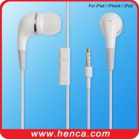 China phone earphone with Mic and volume control for iphone/ipod wholesale