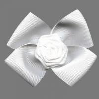 China Fashion Ribbon Bow, Made of Grasgrain Decorated, with Flower at Center wholesale