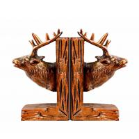 China Deer Reindeer Stag Home Decor Bookends Red Brown For Library Study Room wholesale