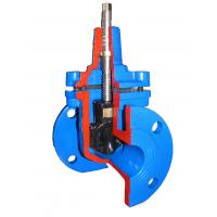China Light Weight Flange End Resilient Seated Gate Valve DIN F4 / Ductile Iron Gate Valves wholesale