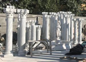 China BLVE White Marble Roman Columns Natural Stone Greek Column Building Pillar Out Door Indoor Decorative wholesale