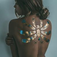 China Skin jewelry metallic real looking temporary tattoos / body sticker jewelry wholesale