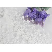 China Wide Handmade Flower Embroidered Tulle Lace Trim For Winter Wedding Dressmaking wholesale