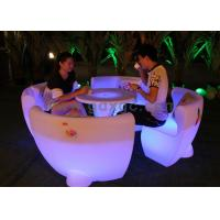 China Outdoor Furniture Plastic Illuminated Led Bar Chair for Coffee , Beer Rooms wholesale